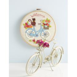 À bicyclette avec minette