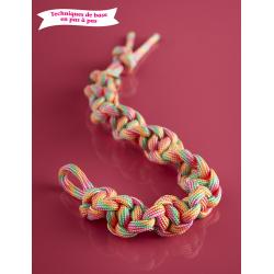 Bracelet multicolore torsadé