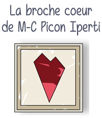 modele tuto broche coeur punchneedle punch needle broderie bijou marie claude picon iperti editions saxe edisaxe