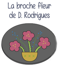 modele gratuit tuto broderie applique thermocolle thermocollant dominique rodrigues broche fleur bijou editions saxe edisaxe