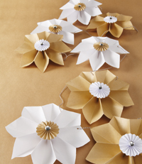 modele gratuit loisir creatifs guirlande papier fleur origami editions saxe edisaxe