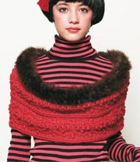 modele gratuit crochet echarpe snood rouge tricot