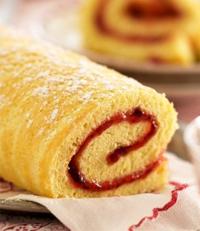 recette buche gateau roule jam roll cake confiture cassis edisaxe editions saxe