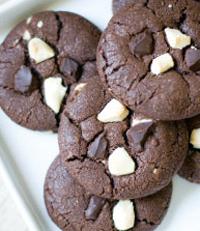 recette cookie triple choco chocolat blanc noir lait gourmandises anglo saxonnes lilie bakery aurelie bresset